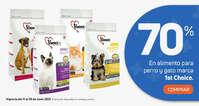 70% de dcto en alimento para perro y gato