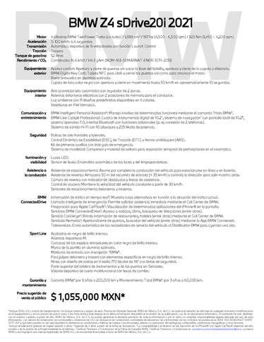 BMW Z4 sDrive20i 2021- Page 1
