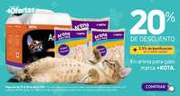 20% en arena para gato