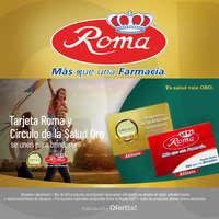 Tarjeta Roma y Cículo de la Salud Oro