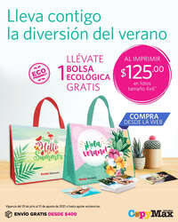 Llévate de regalo una bolsa ecológica