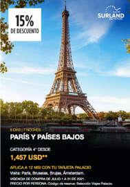 Viaja a París y Países Bajos