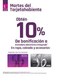 10% de bonificación