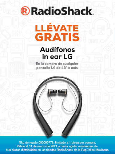 Audífonos In ear LG- Page 1