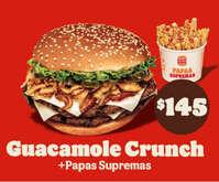 Guacamole crunch + papas supremas