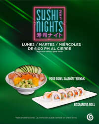 Sushi Nights de lunes a miércoles