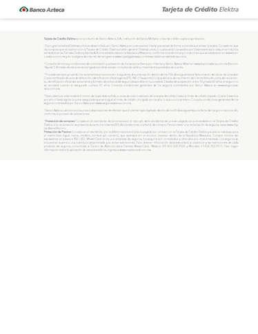 Tarjeta de Crédito Elektra- Page 1