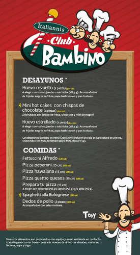 Menú Club Bambino- Page 1