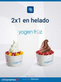 2x1 en helado Yogen Früz
