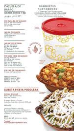 Menú Cazuelas Potzocalli