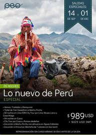 Lo nuevo de Perú