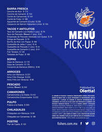 Menú Pick Up