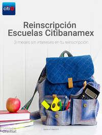 3 meses sin intereses en reinscripción escuelas Citibanamex