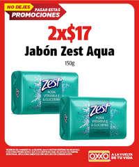 2 x $17 en jabón Zest