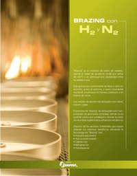 Brazing con H2 y N2