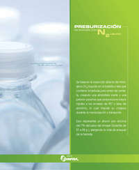 Presurización de envases con N2 líquido
