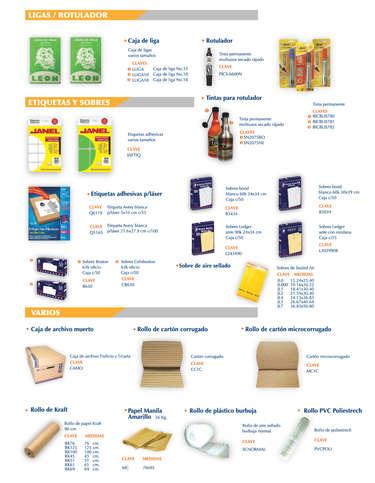 Productos para acabados, empaque y envío- Page 1
