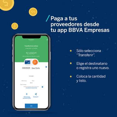Paga a tus proveedores desde la app- Page 1