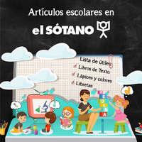 Artículos escolares en El Sótano