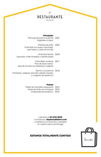 Menú El Restaurante Palacio- Page 1