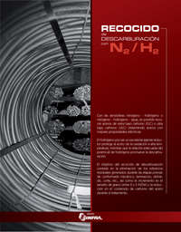 Recocido de descarburación con N2 H2