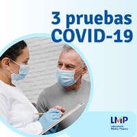 3 pruebas COVID-19