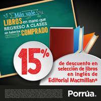 15% de descuento en libros de inglés