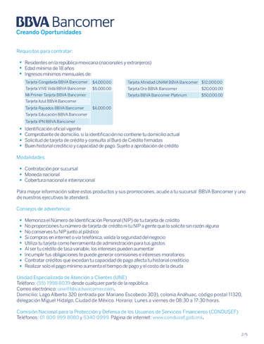 Tarjetas de crédito- Page 1