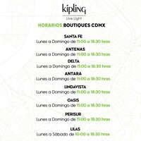 Horarios Boutiques CDMX