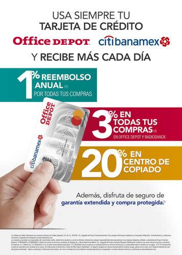 Usa siempre tu tarjeta de crédito Office Depot Citibanamex- Page 1