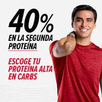 40% en la segunda proteína