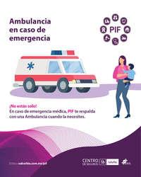 Ambulancia en caso de emergencia
