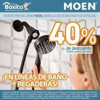 40% en líneas de baño y regaderas