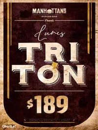 Lunes Tritón $189