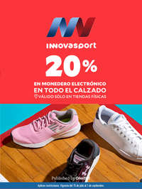 20% en todo el calzado   Monedero Electrónico
