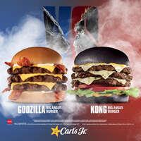 Godzilla Big Angus Burger y Kong Big Angus Burger