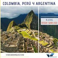 Colombia, Perú y Argentina