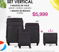 Oferta en Set Vertical de maletas de viaje