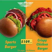 Hamburguesa por $109
