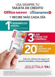 Tarjeta de crédito office depot citibanamex