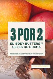 3x2 en Butters y Geles de Ducha
