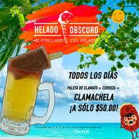 Promo: paleta de clamato + cerveza