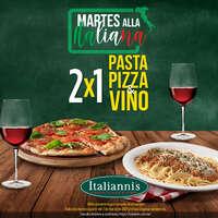 Pasta, Pizza y Vino al 2x1