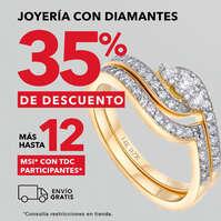 Hasta 35% de descuento en joyería
