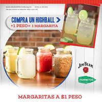 Margaritas a $1 junio