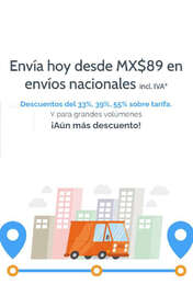 Envíos nacionales desde MX$89.00