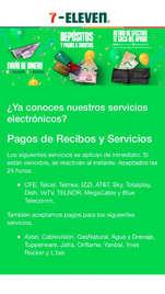 Servicios en caja