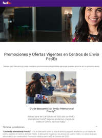 Descuento en fedex international