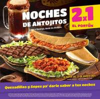 ¡Oficialmente se abren las Noches de antojitos al 2x1 en El Portón!