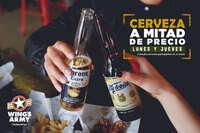 Cerveza a mitad de precio